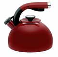 Circulon Morning Bird 2 Quart Steel Teakettle, Rhubarb Red