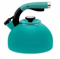 Circulon Morning Bird 2 Quart Steel Teakettle, Capri Turquoise
