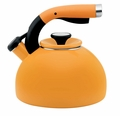 Circulon Morning Bird 2 Quart Steel Teakettle, Mustard Yellow