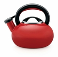 Circulon Sunrise 1.5 Quart Steel Teakettle, Rhubarb Red