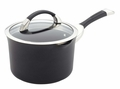 Circulon Symmetry Hard Anodized 3.5 Quart Nonstick Straining Saucepan