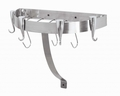 Concept Housewares 20 x 12 Inch Half Round Wall Pot Rack, Stainless Steel