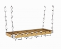 Concept Housewares Wood Ceiling or Wall-Mount Wine Rack, Natural, 8 Bottle