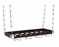 Concept Housewares Wood Ceiling or Wall-Mount Wine Rack, Brown, 8 Bottle