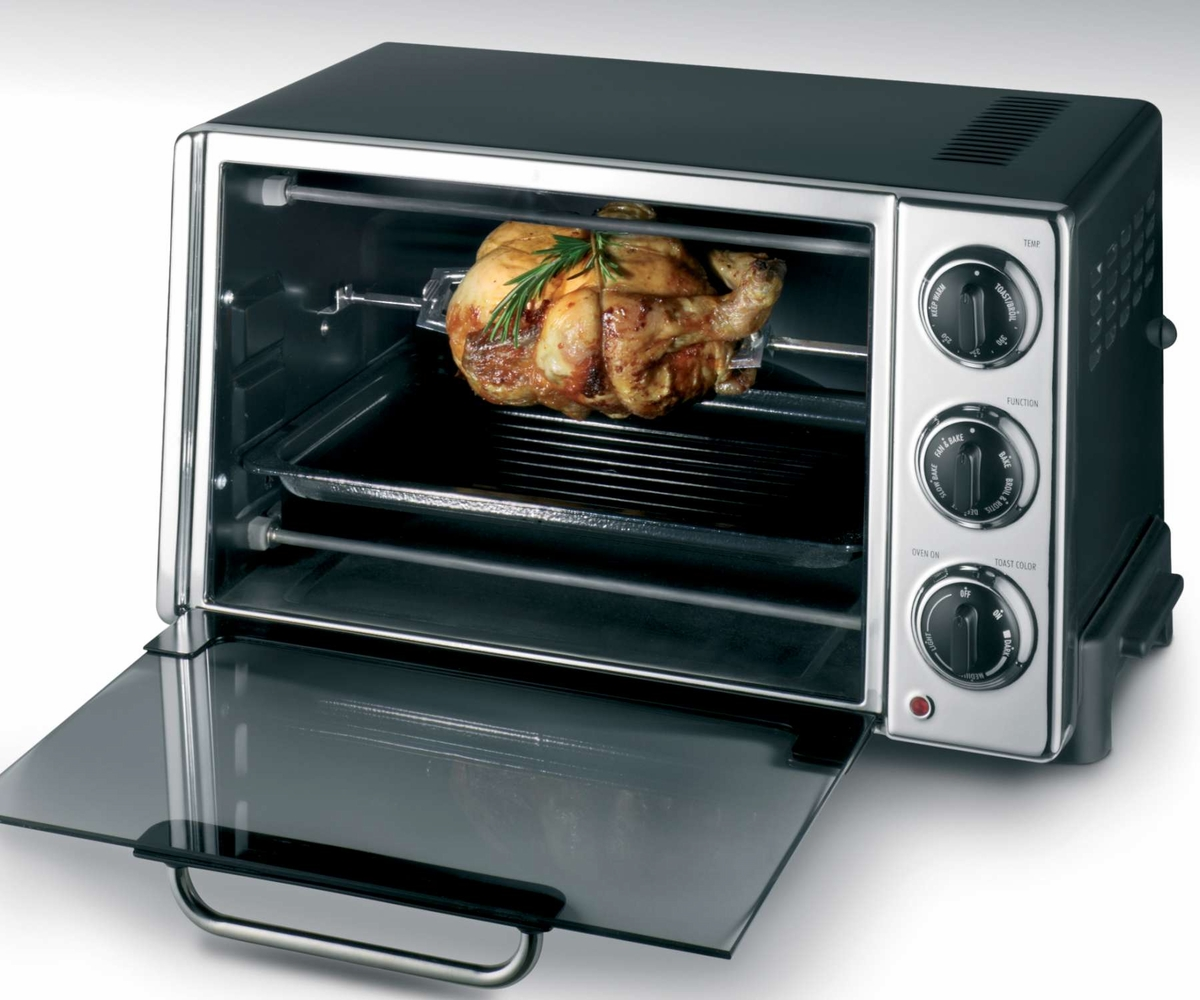 DeLonghi RO2058 6-Slice Convection Toaster Oven with Rotisserie at ...