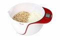 Escali MB115AR Taso Mixing Bowl Digital Kitchen Scale, Red