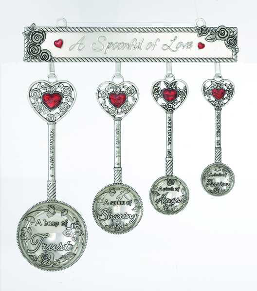 Measuring Spoons With Stand: Ganz Measuring Spoons Set W/ Display Rack, A Spoonful Of