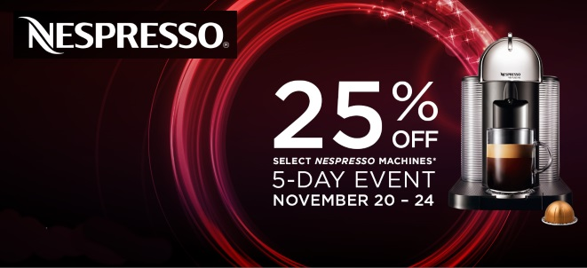 Nespresso 25% Off Sale