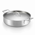 Lagostina Axia Tri Ply Stainless Steel Covered Casserole, 5 Quart