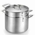Lagostina Axia Tri Ply Stainless Steel Pastaiola Set, 6 Quart