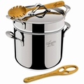 Lagostina Heritage Pastaiola Stainless Steel Pasta Stock Pot, 6 Quart