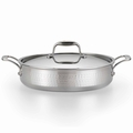 Lagostina Martellata Hammered Stainless Steel Covered Casserole, 5 Quart
