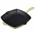 Le Creuset Enameled Cast Iron 10.25 Inch Square Grill, Palm Green