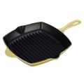 Le Creuset Enameled Cast Iron 10.25 Inch Square Grill, Soleil Yellow