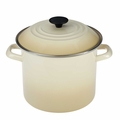 Le Creuset Enameled Steel 12 Quart Stockpot, Dune White