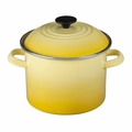 Le Creuset Enameled Steel 6 Quart Stockpot, Soleil Yellow