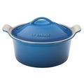 Le Creuset Heritage Round 3 Quart Covered Casserole, Marseille Blue