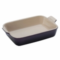 Le Creuset Heritage Stoneware 10 x 7 Inch Baking Dish, Cassis Purple