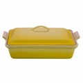 Le Creuset Heritage Stoneware 12 x 9 inch Covered Rectangular Baking Dish, Soleil Yellow