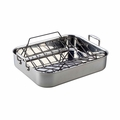 Le Creuset Large Stainless Steel Roasting Pan & Rack Set