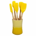 Le Creuset Revolution 6 Piece Silicone Utensil Set, Soleil Yellow