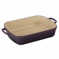 Le Creuset Signature 5.25 Quart Cast Iron Roaster, Cassis Purple