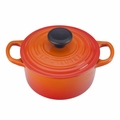 Le Creuset Signature Cast Iron 1 Quart Round French Oven, Flame Orange