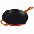 Le Creuset Signature Cast Iron 10.25 Inch Skillet, Flame Orange