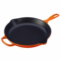 Le Creuset Signature Cast Iron 11.75 Inch Skillet, Flame Orange