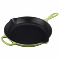 Le Creuset Signature Cast Iron 11.75 Inch Skillet, Palm Green