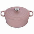 Le Creuset Signature Cast Iron 5.5 Quart Round Dutch Oven, Hibiscus Pink