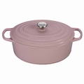 Le Creuset Signature Cast Iron 5 Quart Oval Dutch Oven, Hibiscus Pink