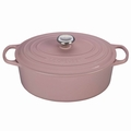 Le Creuset Signature Cast Iron 6.75 Quart Oval Dutch Oven, Hibiscus Pink