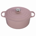 Le Creuset Signature Cast Iron 7.25 Quart Round Dutch Oven, Hibiscus Pink
