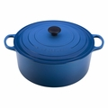Le Creuset Signature Enameled Cast Iron 13.25 Quart Round French Oven, Marseille Blue