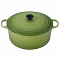 Le Creuset Signature Enameled Cast Iron 13.25 Quart Round French Oven, Palm Green