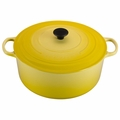 Le Creuset Signature Enameled Cast Iron 13.25 Quart Round French Oven, Soleil Yellow