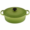 Le Creuset Signature Enameled Cast Iron 3.5 Quart Oval French Oven, Palm Green
