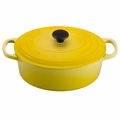 Le Creuset Signature Enameled Cast Iron 3.5 Quart Oval French Oven, Soleil Yellow