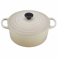 Le Creuset Signature Enameled Cast Iron 3.5 Quart Round French Oven, Dune White