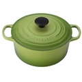 Le Creuset Signature Enameled Cast Iron 4.5 Quart Round French Oven, Palm Green