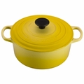Le Creuset Signature Enameled Cast Iron 4.5 Quart Round French Oven, Soleil Yellow