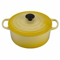 Le Creuset Signature Enameled Cast Iron 5.5 Quart Round French Oven, Soleil Yellow