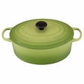 Le Creuset Signature Enameled Cast Iron 6.75 Quart Oval French Oven, Palm Green
