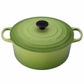 Le Creuset Signature Enameled Cast Iron 7.25 Quart Round French Oven, Palm Green