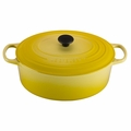 Le Creuset Signature Enameled Cast Iron 9.5 Quart Oval French Oven, Soleil Yellow