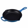 Le Creuset Signature Enameled Cast Iron 9 Inch Skillet, Marseille Blue