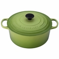 Le Creuset Signature Enameled Cast Iron 9 Quart Round French Oven, Palm Green