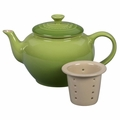 Le Creuset Stoneware 22 ounce Teapot w/ Infuser, Palm Green