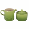 Le Creuset Stoneware Cream and Sugar Set, Palm Green